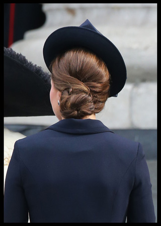 Kate Middleton Hair Backshot St Paul's Cathedral