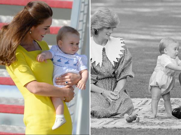 Kate Middleton Holds Prince George Princess Diana Smiles Prince William Baby