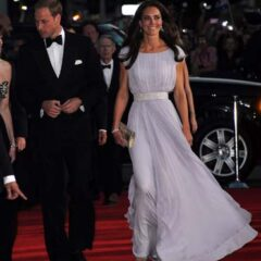 Prince William Tuxedo Kate Middleton Alexander McQueen Gown Belasco Theater Los Angeles BAFTA