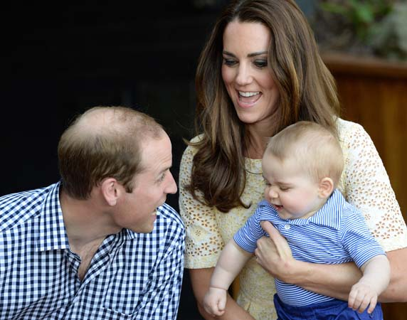 Kate Middleton Holds Prince George Smiles Prince William Bilby Enclosure