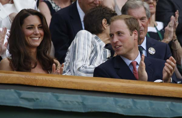 Kate Middleton White Temperley Dress Prince William Wimbledon 2011