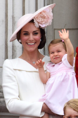 princess charlotte waves trooping colour 2016