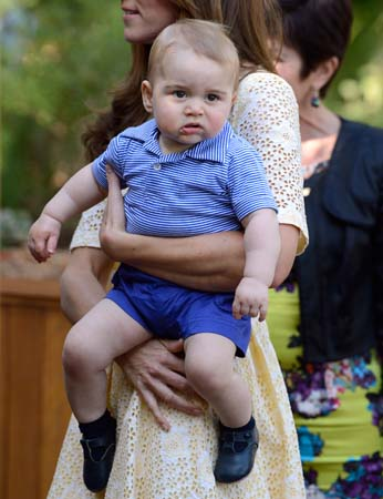 Prince George Blue Shirt Taronga Zoo