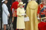 Queen Elizabeth Yellow Coat Purse Westminster Abbey