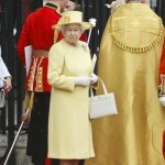 Queen Elizabeth Yellow Coat Purse Westminster Abbey