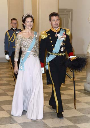 Crown Princess Mary Crown Prince Frederik Gala Dinner Queen Margrethe Birthday