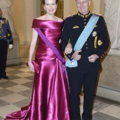 King Phillipe Queen Mathilde 75th Birthday of Queen Margrethe of Denmark