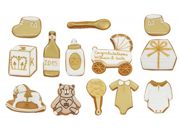 White Background Individual Biscuits Royal Baby