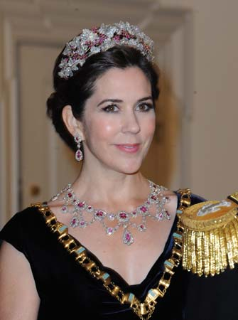 Crown Princess Mary Danish Ruby Parure Tiara