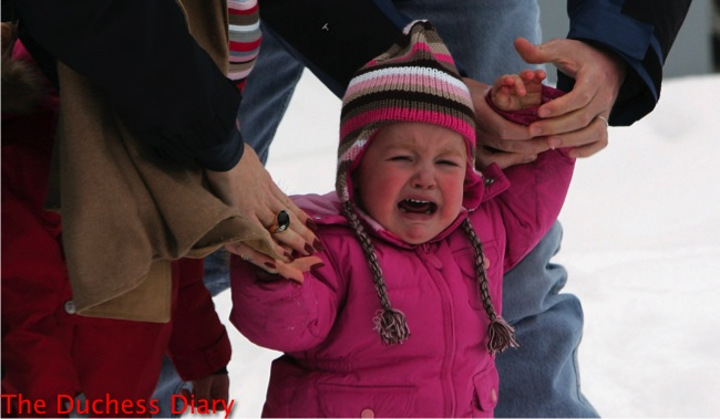princess alexia snowsuit cries photoshoot