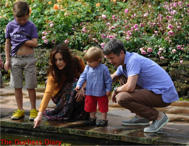 crown princess mary points fish son prince vincent denmark