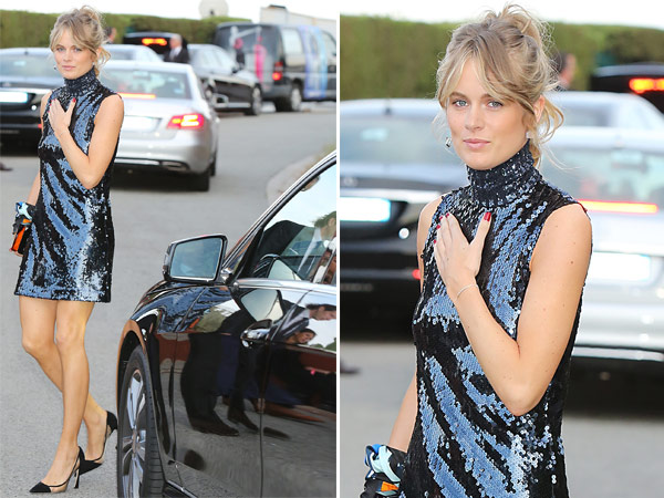 Cressida Bonas Sparkly Blue Dress Dior Cruise Show 2016