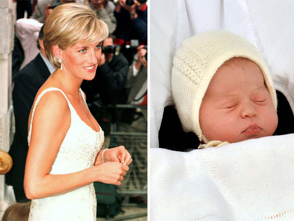 Princess Diana Smiles Close-Up Princess Charlotte