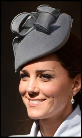 Kate Middleton Close-Up Easter Sunday 2014