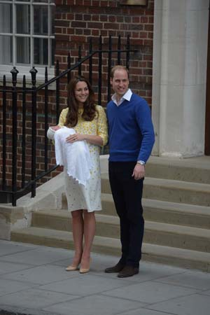 Kate Middleton Prince William Smile Lindo Wing New Daughter