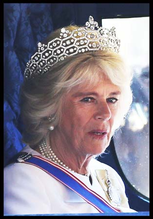 Camilla Duchess Cornwall Boucheron Tiara State Opening Parliament