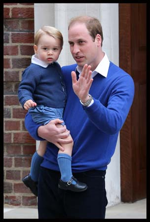 Prince George Carried By Prince William Lindo Wing