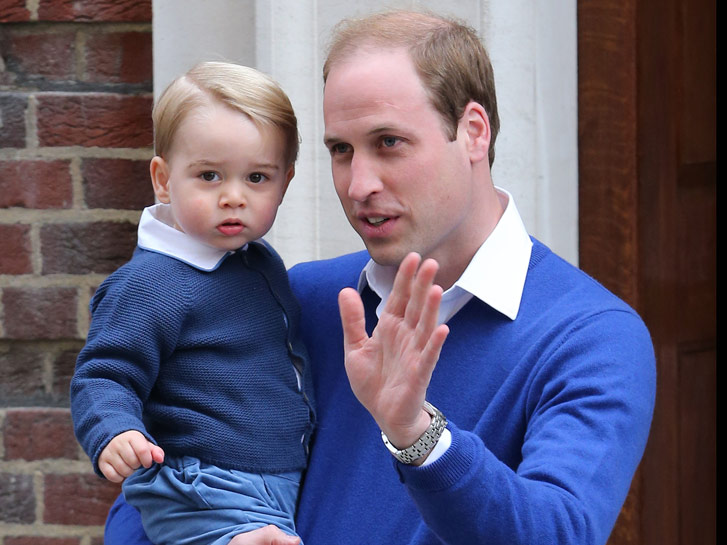 Prince William Carries Prince George Outside Lindo Wing