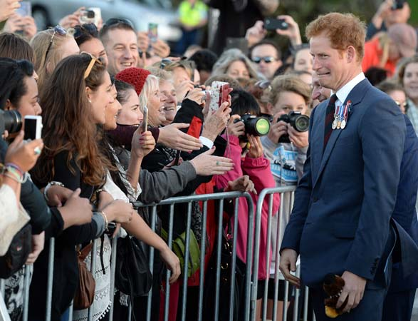 Prince Harry Suit Funny face New Zealand Wellington
