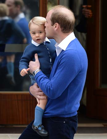 Prince William Kisses Prince George Lindo Wing