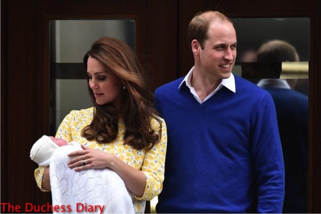 prince william smiles kate middleton checks on princess charlotte lindo wing