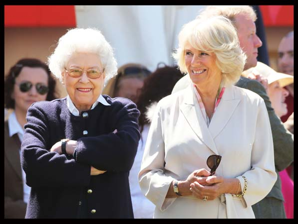 Queen Elizabeth Glasses Smiling Duchess Cornwall Royal Windsor Horse Show