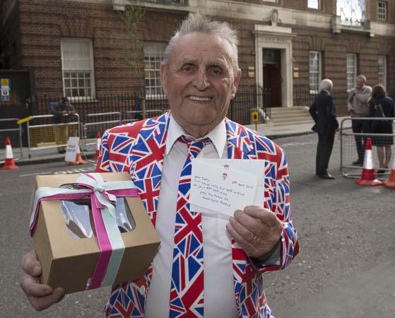 Terry Hutt Union Jack Suit Birthday Cake