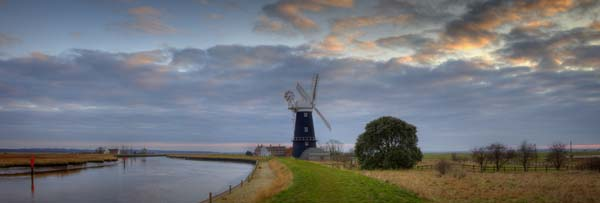 Panoramic View River Yare Berney Arms Windmill