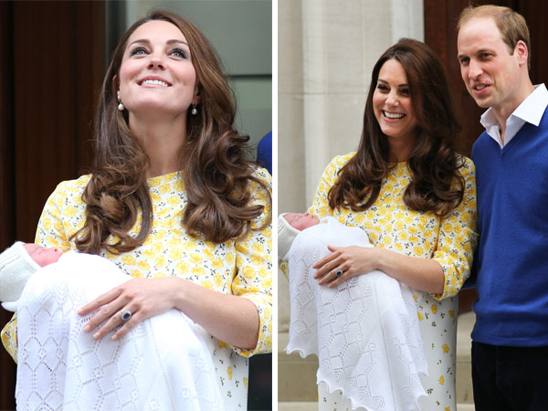 William Kate Smile Hold Princess Charlotte