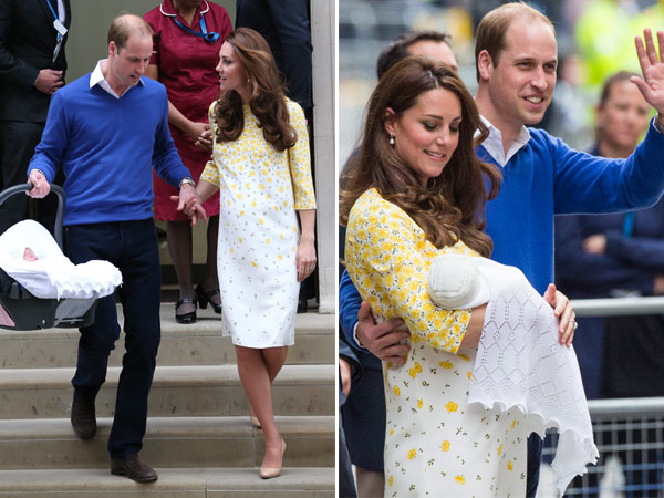 William and Catherine Take Charlotte Home Lindo Wing