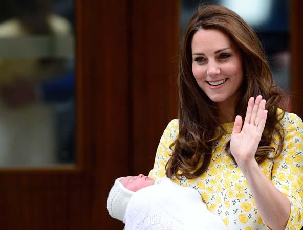 Kate Middleton Yellow White Jenny Packham Dress Waves