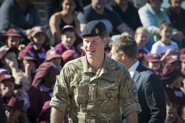 Prince Harry Smiles Greets Crowds Sydney Opera House