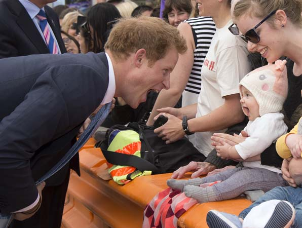 Prince Harry Suit Funny Face Infant Girl New Zealand