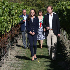 Kate Middleton Skinny Jeans Blazer Prince William New Zealand Winery