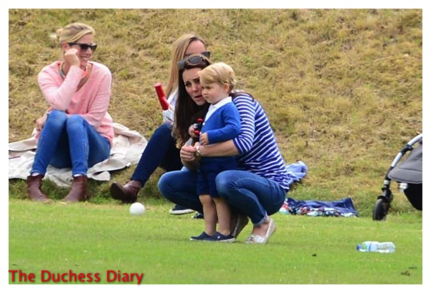 Kate Middleton Cuddles Prince George Beaufort Polo Club