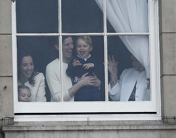 prince george laughing trooping The Colour
