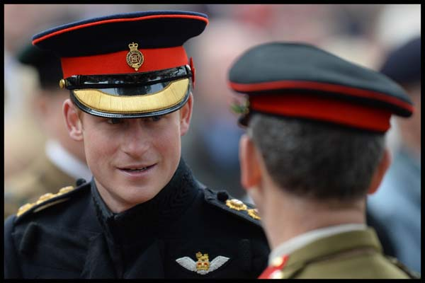 Prince Harry Military Regalia Field of Remembrance 2014