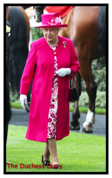 The Queen Pink Coat Royal Ascot Day One
