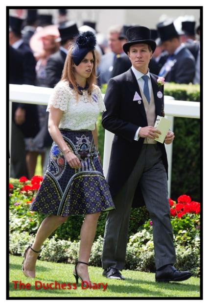 Princess Beatrice Dave Clark Royal Ascot Day 4