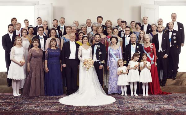 Foreign Royals Pose Official Photo Swedish Royal Wedding