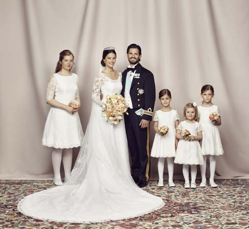 Princess Sofia Prince Carl Philip Bridal Party Official Photo