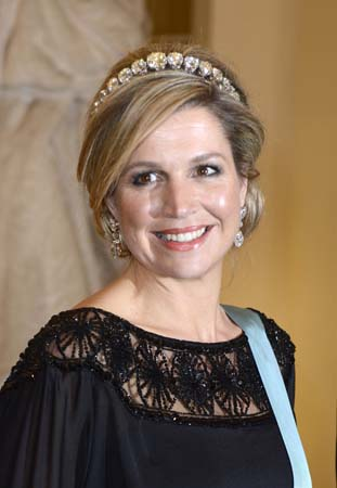 Queen Maxima Eve of Queen Margrethe 75th Anniversary