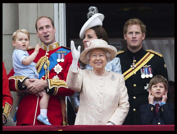 Royal Family Trooping Colour Balcony Buckingham Palace