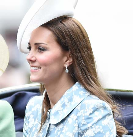 Kate Middleton Lock Co Hat Diamond Drop Earrings Trooping The Colour