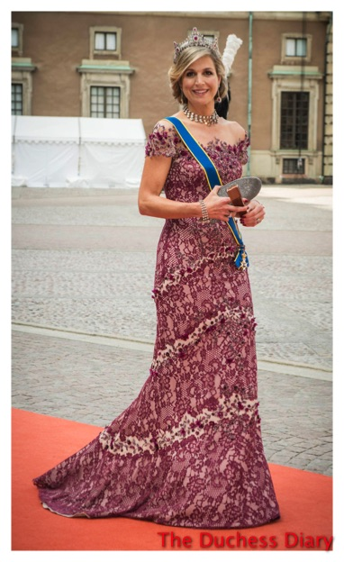 Queen Maxima Swedish Royal Wedding