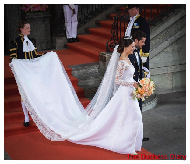 Princess Sofia Wedding Gown Prince Carl Philip Newlyweds