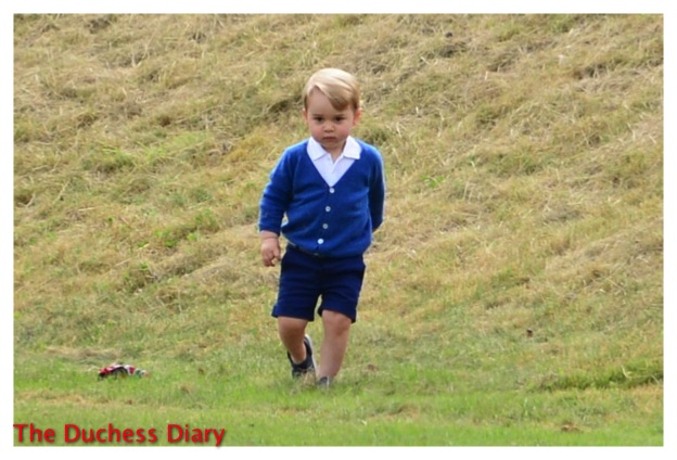 Prince George Blue Cardigan Festival of Polo Tetbury