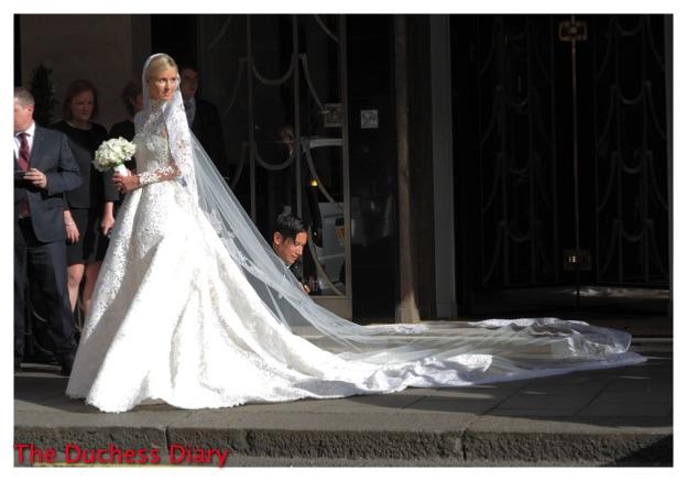 Nicky Hilton Valentino Gown Wedding London