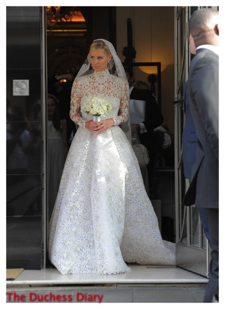 Nicky Hilton Valentino Wedding Gown Claridge's