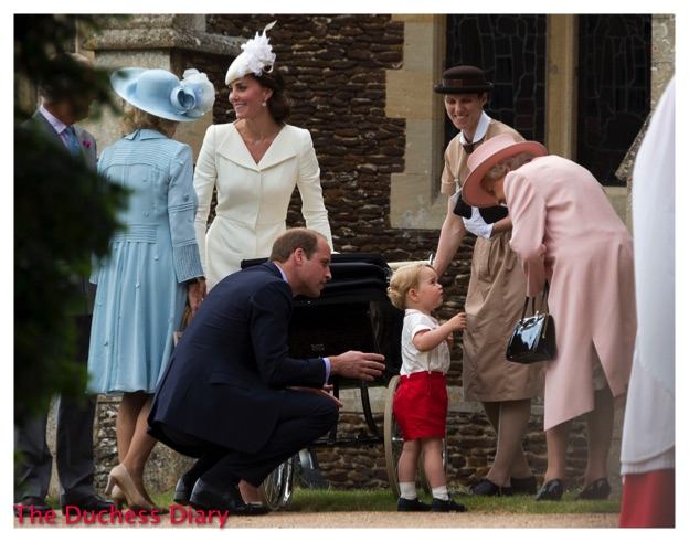 Prince George Speaks Queen Elizabeth II St Mary Magdalene Church
